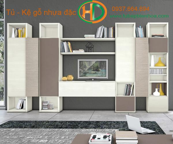 tủ kệ trang trí treo tường tại biên hòa hd5