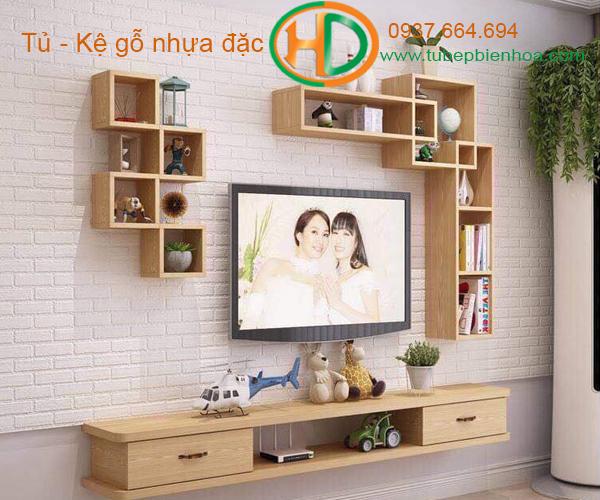 tủ kệ trang trí treo tường tại biên hòa hd8