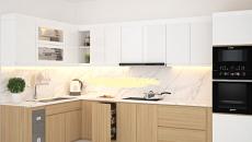 Lắp đặt tủ bếp nhựa cao cấp màu vân gỗ Bền-Đẹp-Gia Rẻ