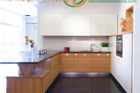 Tủ bếp nhựa vân gỗ mang bản sắc truyền thống