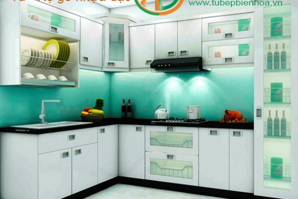 Tủ bếp nhựa cao cấp cho không gian nhà phố