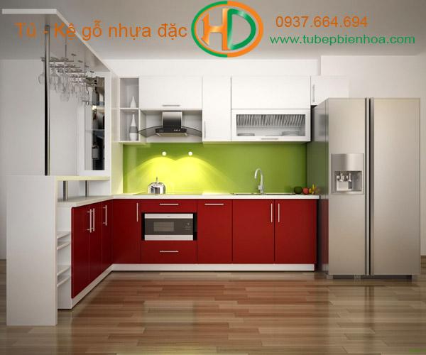 tủ bếp nhựa acrylic hd1
