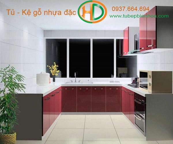 tủ bếp nhựa acrylic hd2