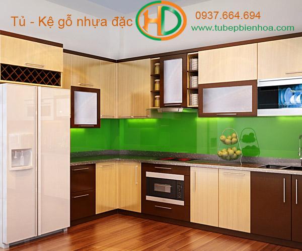 tủ bếp nhựa acrylic hd3