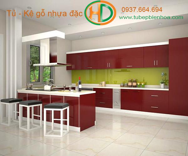 tủ bếp nhựa acrylic hd5