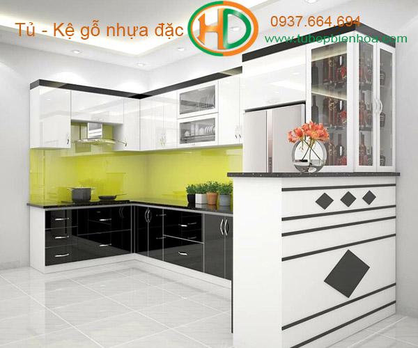 tủ bếp nhựa acrylic hd8
