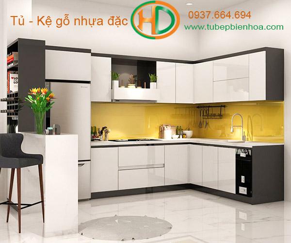 tủ bếp nhựa biên hòa hd11