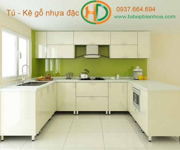 tủ bếp nhựa biên hòa hd4