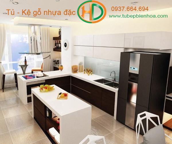 tủ bếp nhựa biên hòa hd5