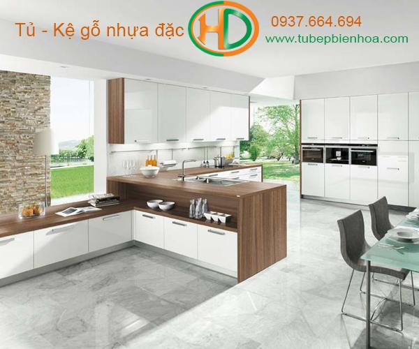 tủ bếp nhựa cao cấp hd1