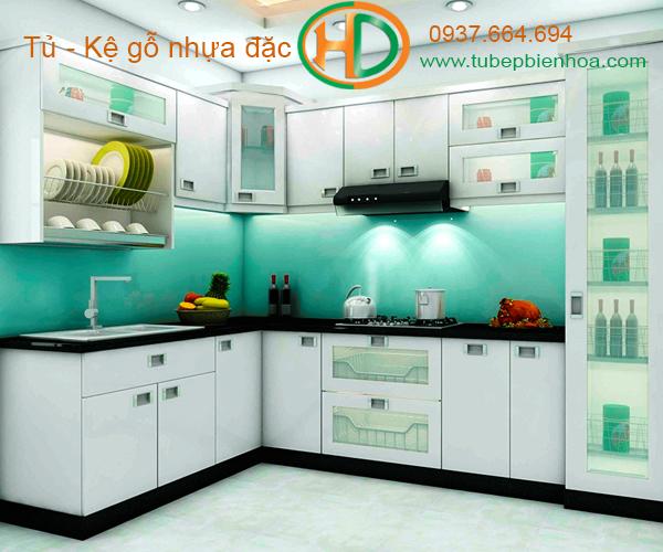 tủ bếp nhựa cao cấp hd3