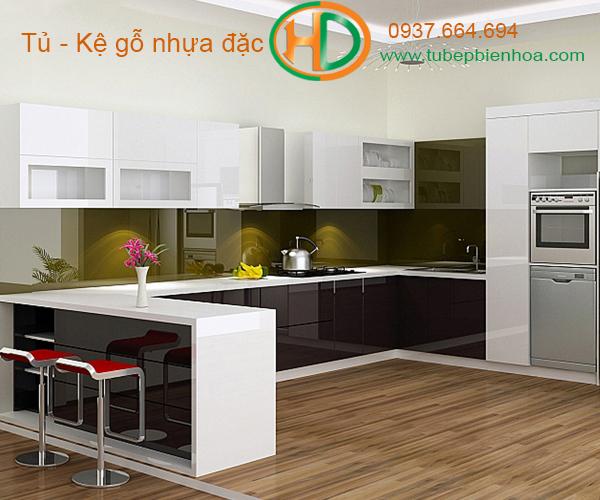 tủ bếp nhựa cao cấp hd5