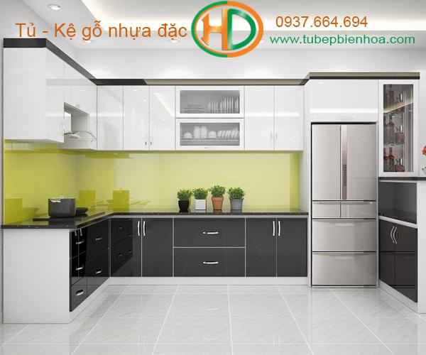 tủ bếp nhựa cao cấp hd6