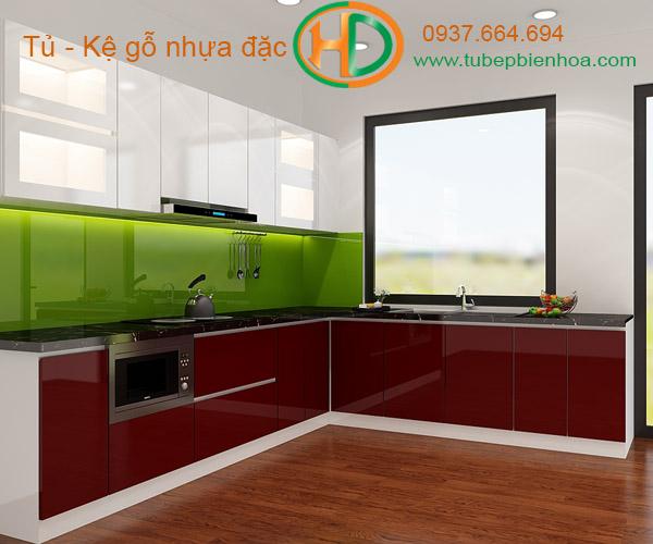 tủ bếp nhựa cao cấp hd8