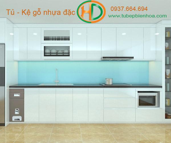 tủ bếp nhựa chữ I hd3