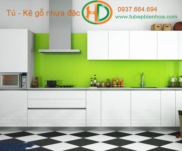 tủ bếp nhựa chữ I hd5