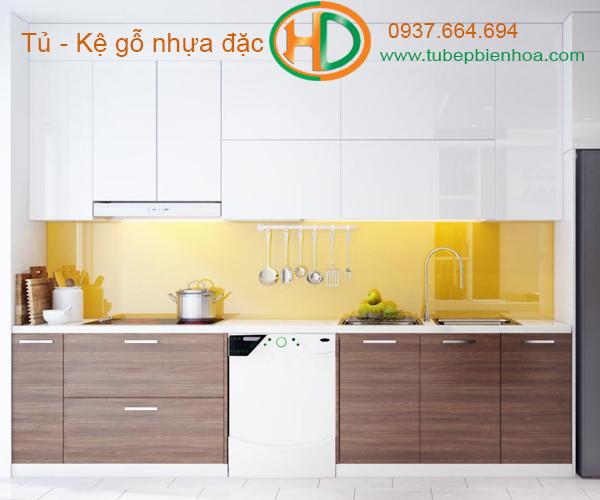 tủ bếp nhựa chữ I hd6