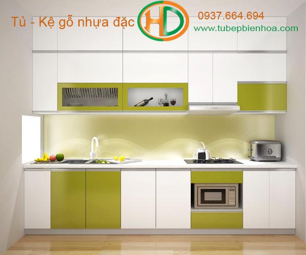 tủ bếp nhựa chữ I hd7