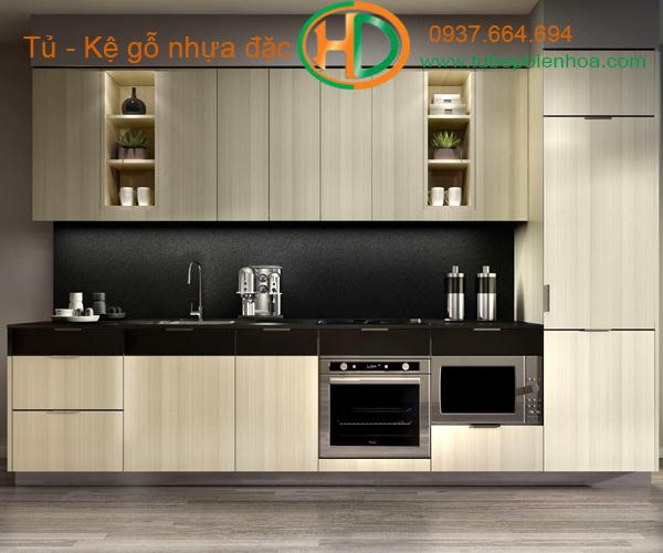 tủ bếp nhựa chữ I hd8