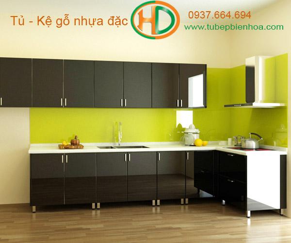 tủ bếp nhựa chữ L hd1