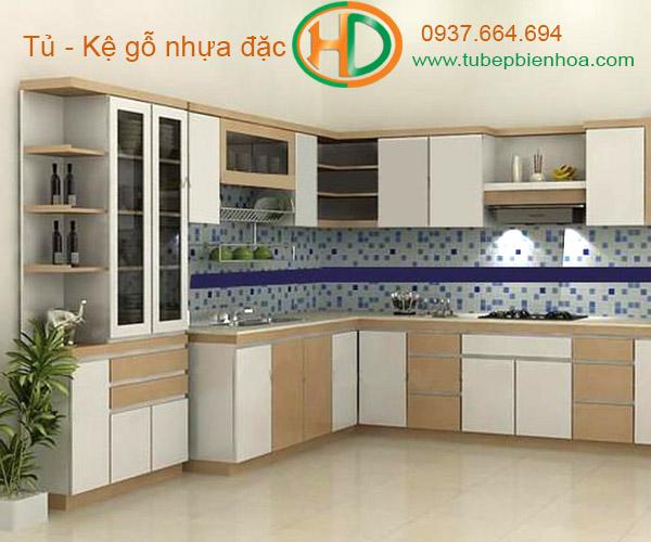 tủ bếp nhựa chữ L hd2