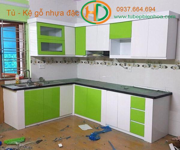 tủ bếp nhựa chữ L hd3
