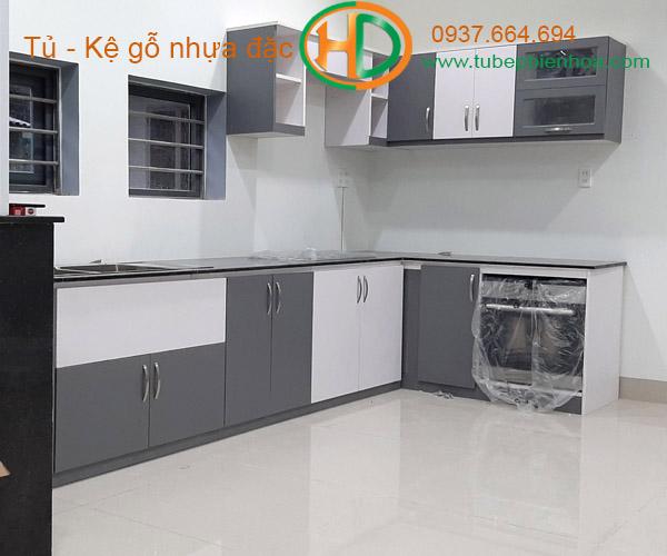 tủ bếp nhựa chữ L hd4