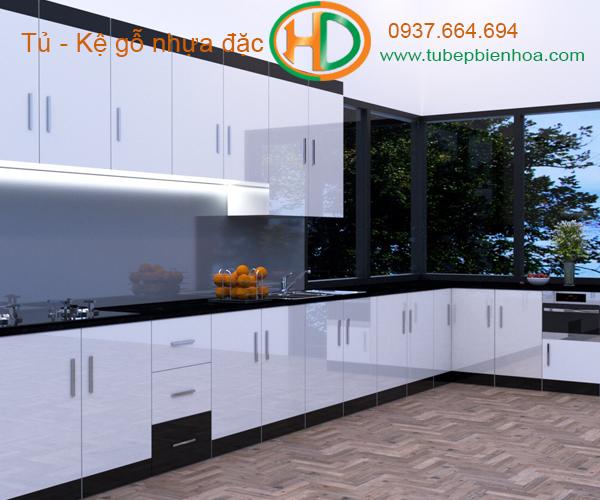 tủ bếp nhựa chữ L hd5