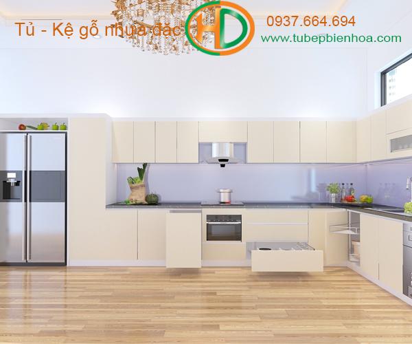 tủ bếp nhựa chữ L hd7