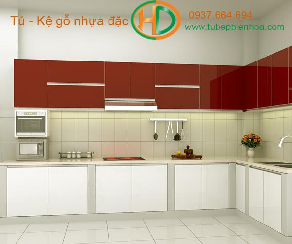tủ bếp nhựa chữ L hd8