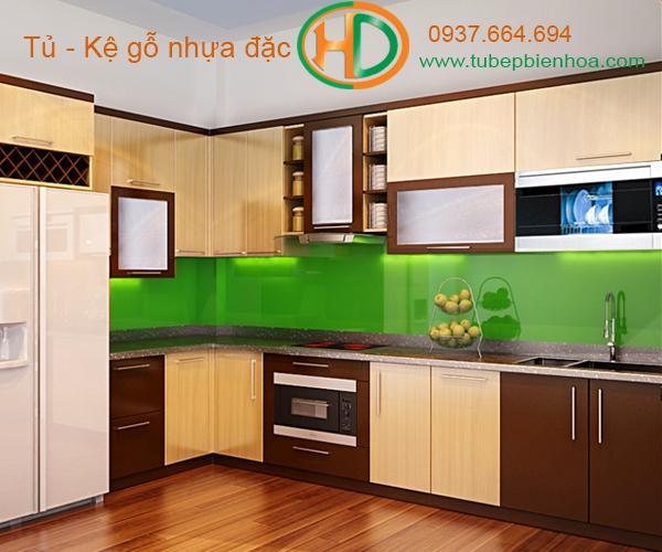 tủ bếp nhựa đặc hd2