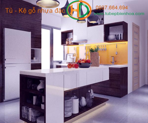 tủ bếp nhựa đặc hd4
