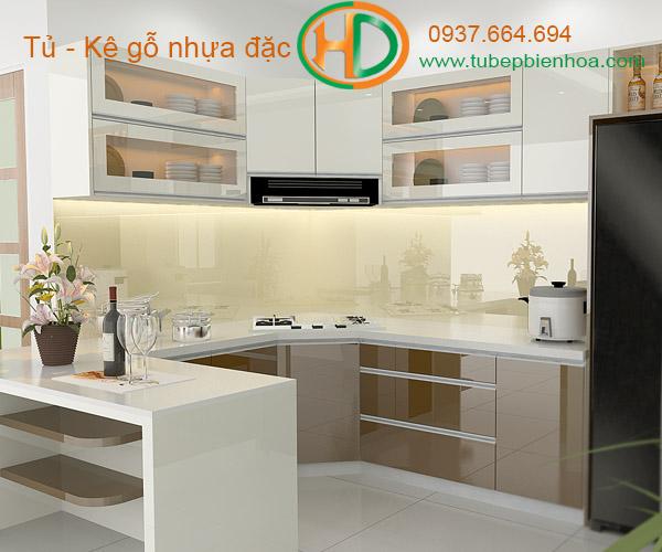 tủ bếp nhựa đặc hd5