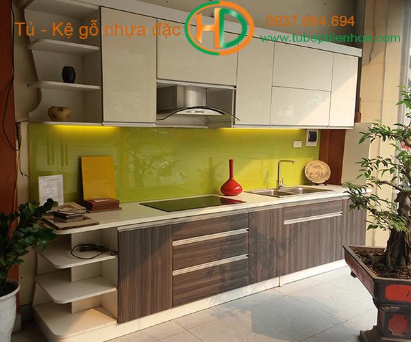 tủ bếp nhựa laminate hd1