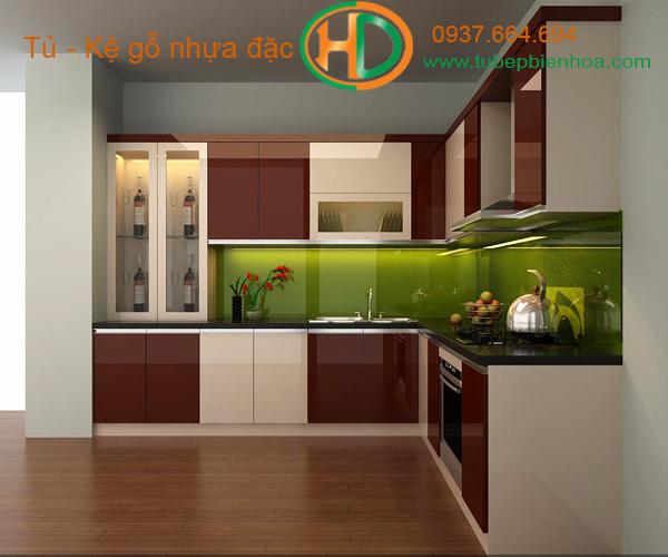 tủ bếp nhựa laminate hd2