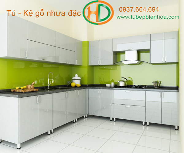 tủ bếp nhựa laminate hd4