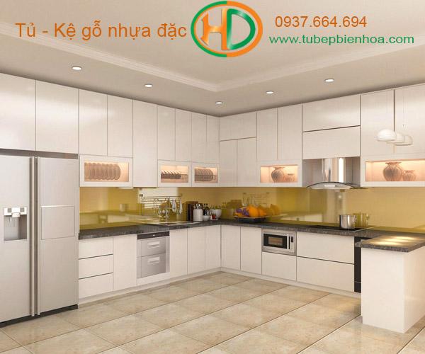 tủ bếp nhựa laminate hd8