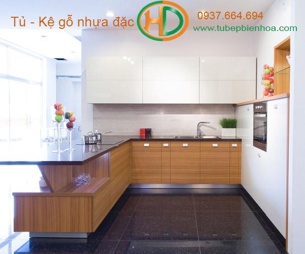 tủ bếp nhựa vân gỗ 2019 hd2