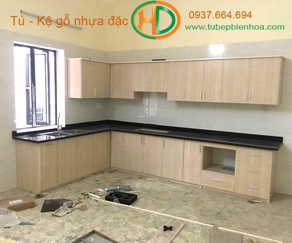 tủ bếp nhựa vân gỗ 2019 hd3