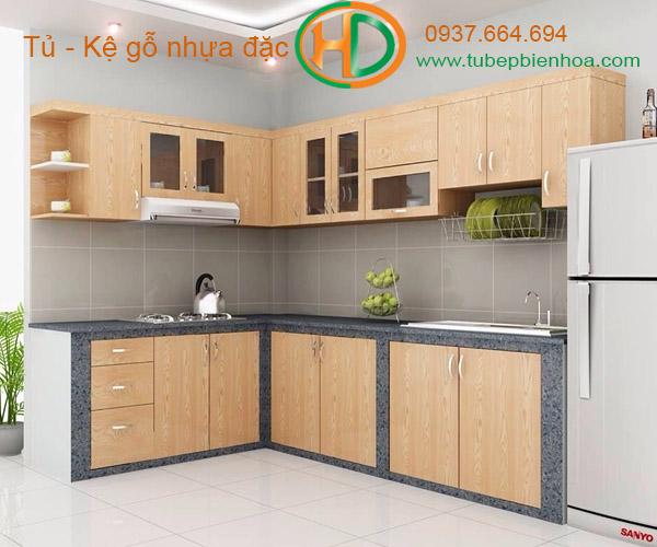 tủ bếp nhựa vân gỗ 2019 hd5