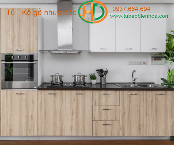tủ bếp nhựa vân gỗ 2019 hd7