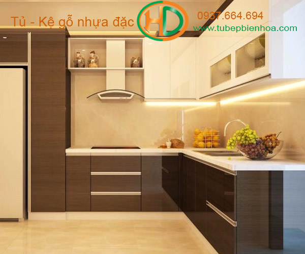tủ bếp nhựa vân gỗ biên hòa 2019 hd2