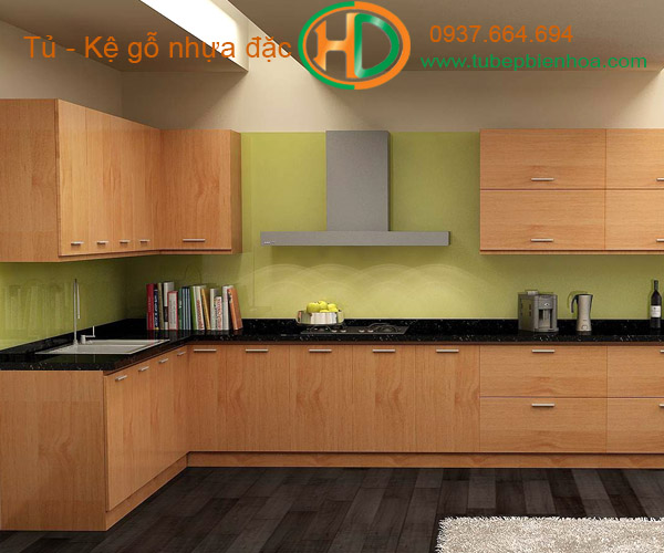 tủ bếp nhựa vân gỗ biên hòa 2019 hd9