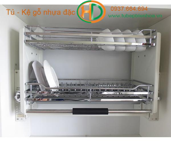 giá đựng bát đĩa nâng hạ tủ bếp trên biên hòa 3
