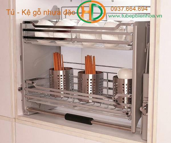 giá đựng bát đĩa nâng hạ tủ bếp trên biên hòa 7