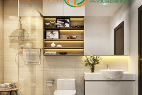 Nhận cung cấp và lắp đặt tủ phòng tắm nhựa đặc cao cấp