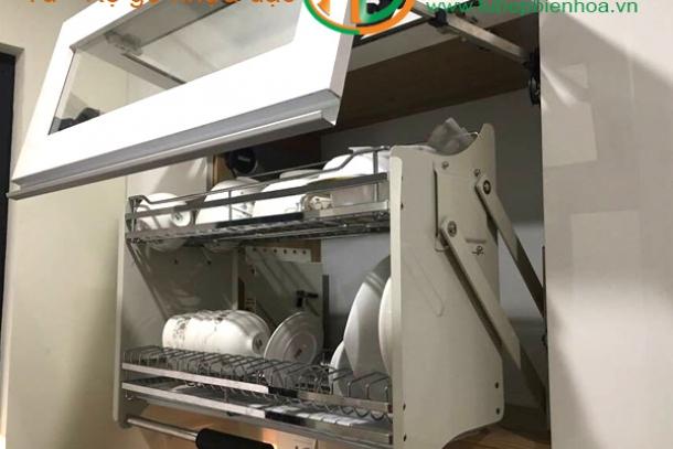 Giá để bát đĩa nâng hạ tủ bếp trên Biên Hòa