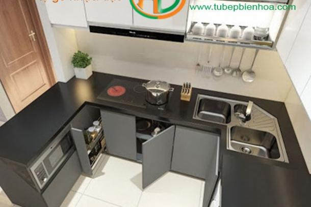 Chuyên sản xuất và thiết kế tủ bếp hình chữ U tại Biên Hòa