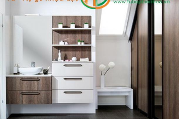 Thiết kế gia công lắp đặt hoàn thiện tủ phòng tắm nhựa cao cấp tại Nhơn Trạch