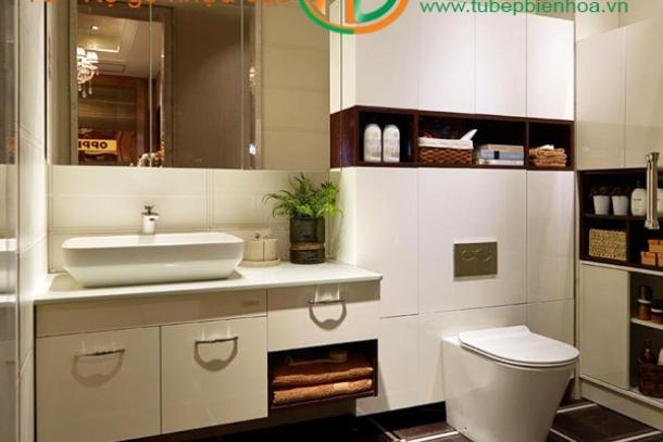 Tủ phòng tắm nhựa đặc PVC tại Biên Hòa